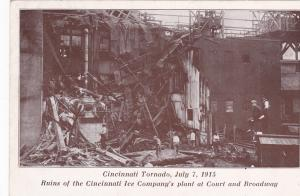 Tornado Damage , CINCINNATI , Ohio , 1915 , Cincinnati Ice Co. Plant