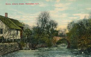 Scene along Allens Creek, Rochester, New York - DB