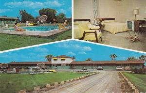 PERTH , Ontario , 1950-60s ; Lucky Seven Motel, Swimming Pool, Room & Entrance