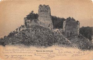 France Ruines des Allinges CPA