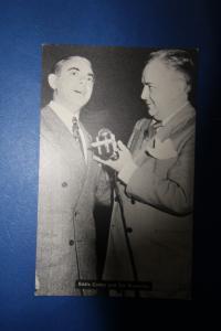 Eddie Cantor and Tom Breneman Hollywood American Broadcasting Company Kellogg Co