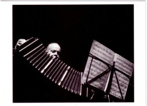 Astor Piazzolla Argentine Tango Nuevo Composer with Bandoneon in 1983 Postcard