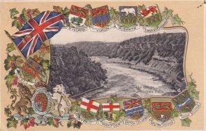 NIAGARA FALLS, Ontario, Canada, PU-1907; The Gorge, Canada Providences Coat O...