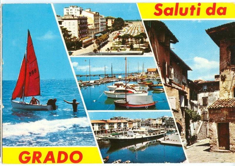 Italy, Saluti da Grado, 1978 used Postcard