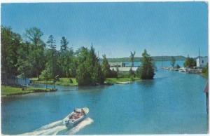 View at Clam River Village Michigan MI 1970