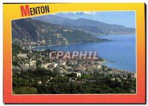 Postcard Moderne Menton General view