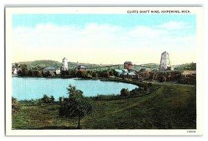 Cliffs Shaft Mine, Ishpeming, MI Postcard *7E(2)7