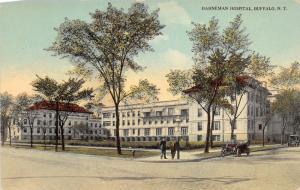 Buffalo New York~Hahneman Hospital~Men on Corner~Vintage Car~c1910 Pc