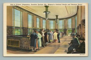 Hall of Waters' Dispensery, Excelsior Springs, MO Missouri Postcard
