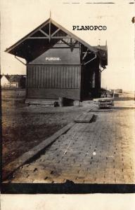 PURDIN, MISSOURI TRAIN DEPOT-EARLY 1900'S RPPC REAL PHOTO POSTCARD