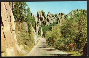 41620) SD BLACK HILLS Cathedral Spires Needles Highway Car Safety Check - Chrome