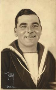 new zealand, Real Photo of an Unknown Navy Sailor (1930s) Savoy Studios Auckland