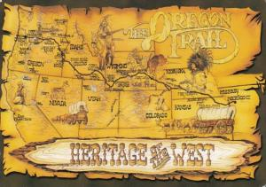 Kansas Map Showing The Oregon Trail Heritage Of The West