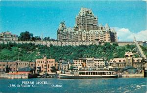 St Vallier Quebec~Pierre Motel~Chateau Frontenac~Waterfront~1950s
