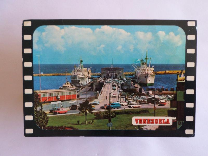 VENEZUELA PORT LA GUAIRA & BOAT BOATS SHIP SHIPS & CAR CARS 1960 YEARS PC z1