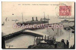 Old Postcard Le Havre Released From Transatlantic Gascony