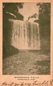 Minnesota Minneapolis Minnehaha Falls 1909