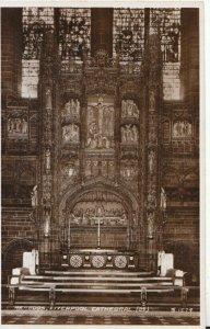 Lancashire Postcard - Reredos - Liverpool Cathedral - Real Photograph Ref TZ7466