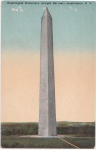 Washington Monument, Washington DC, Postcard