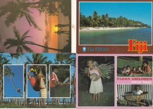 Fijian Children Tree Climbing Always Happy 4x Fiji Postcard s