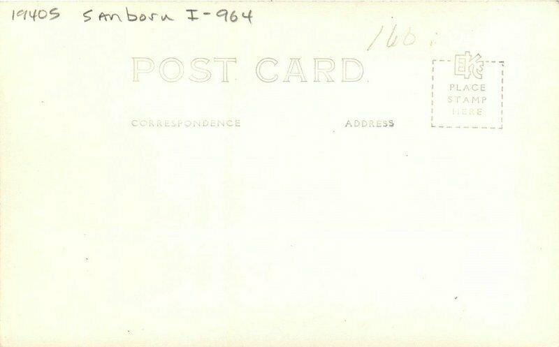 Idaho Springs Colorado Silver Lake 1940s Sanborn I-964 Photo Postcard 21-6337