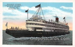 Whaleback Steamer Christopher Columbus Milwaukee, Wisconsin Ship Unused
