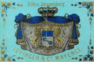 Vintage Bottle Label Schloss Johannisberg Levinger & Co Mayence *C