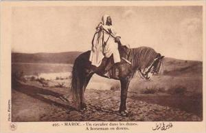 Morocco Maroc A Horseman On Downs 1920s-30s