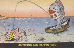 Fishing Humour Anything Can Happen Here