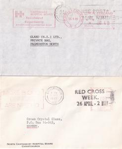 New Zealand Christchurch Canterbury Hospital Radio 3x Postmark s