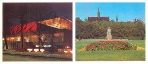 Postcard Riga Latvia state academy art theatre