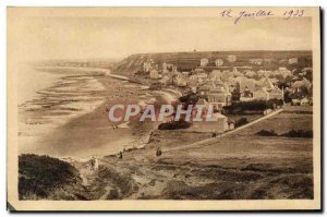 Old Postcard Arromanches Vue Generale Taking Of Cliffs Of Tracy