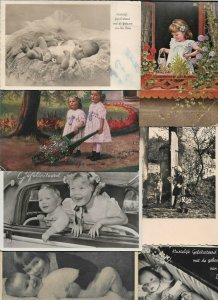 Kids Boy Girl Baby with RPPC Postcard Lot of 18 - 01.08