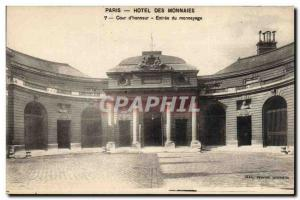 Old Postcard Paris Hotel Coin minting entry