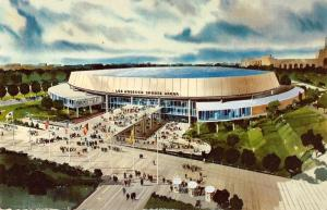 Los Angeles California Memorial Sports Arena Vintage Postcard K40886