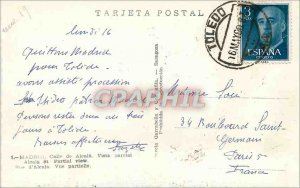 Postcard Modern Madrid Calle Alcala Vista parcial Alcala Street Part Garcia G...