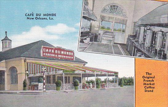 Louisiana New Orleans Cafe Du Monde Original French Market Coffee Stand