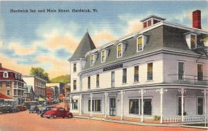 Hardwick Vermont~Main Street~Hardwick Inn~Gulf Gas Sign~Delivery Truck~1940s PC