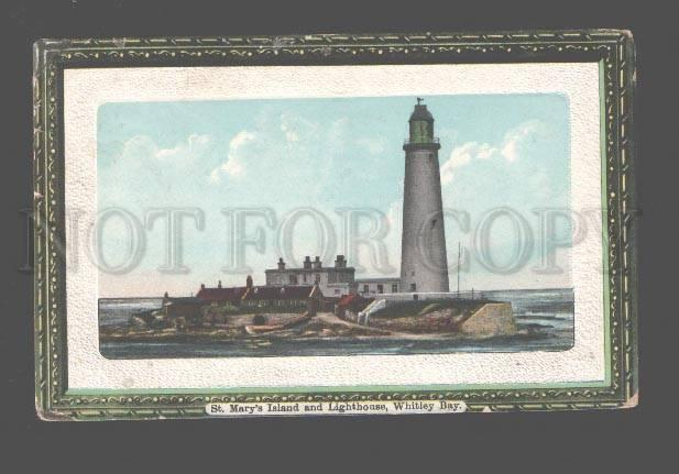 080264 UK Whitley Bay LIGHTHOUSE St. Mary's Island Vintage PC