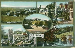 Staffordshire, England Village of Alton, Castle, Parish, etc. DB Postcard