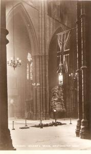 Westminster Abbey. Unsknown Sodier's Gravet Tuck Real Photograph PC # 3717