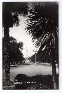 RPPC Paseo de la Reforma ca 1941 Mexico Vintage Postcard