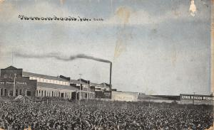 Shenandoah IA~Iowa Wagon Works Factory~1908 CU Williams Photoette~Postcard