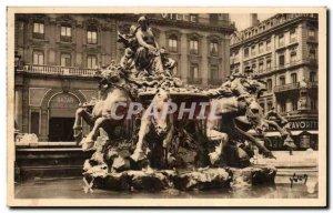 Postcard Old Lyon Bartholdi Fountain