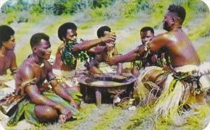 Fiji Yanqona Ceremony With Kava Drink