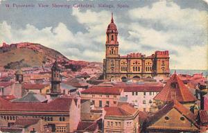 Spain Old Vintage Antique Post Card Cathedral Malaga Unused