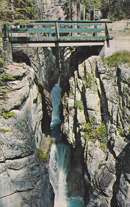 Third Bridge, Maligne Canyon, Jasper Park, Alberta, Canada, 1940-1960s
