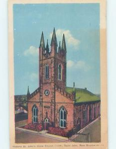 W-Border CHURCH SCENE St. John New Brunswick NB A9654
