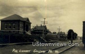 Real Photo, Pub, Library Guilford ME Postal Used Unknown