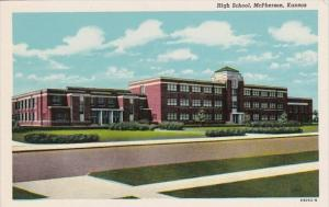 High School McPherson Kansas Curteich